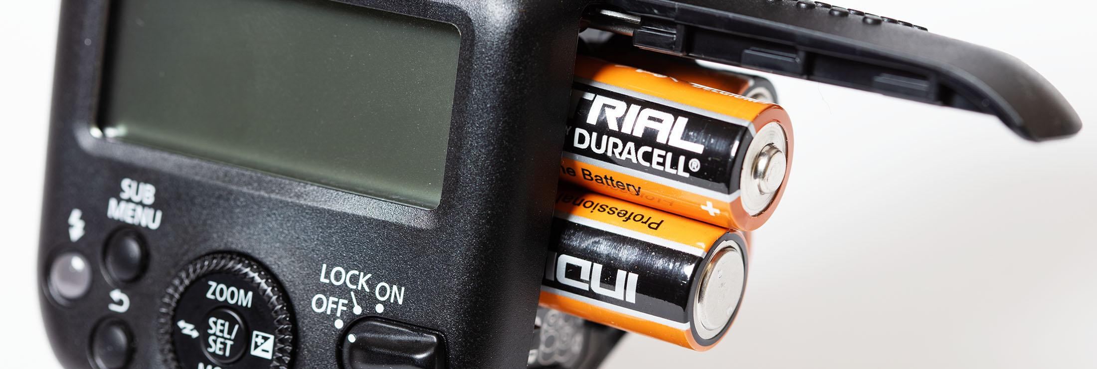 Introfoto batterijen voor flitser