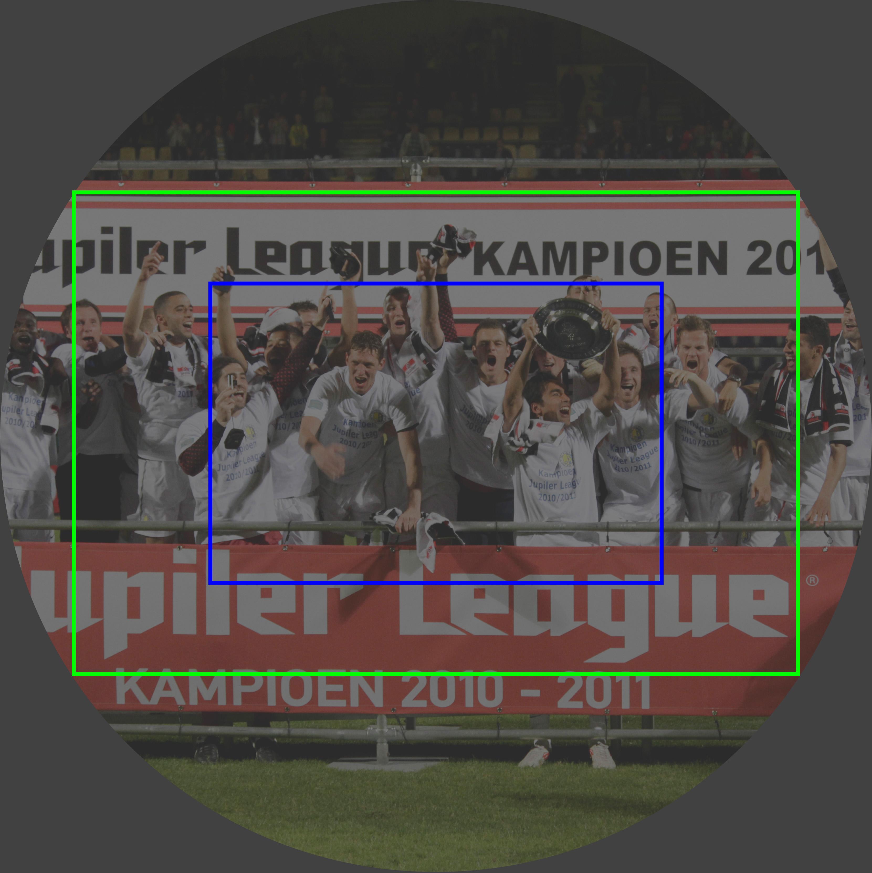 De beeldcirkel van een foto