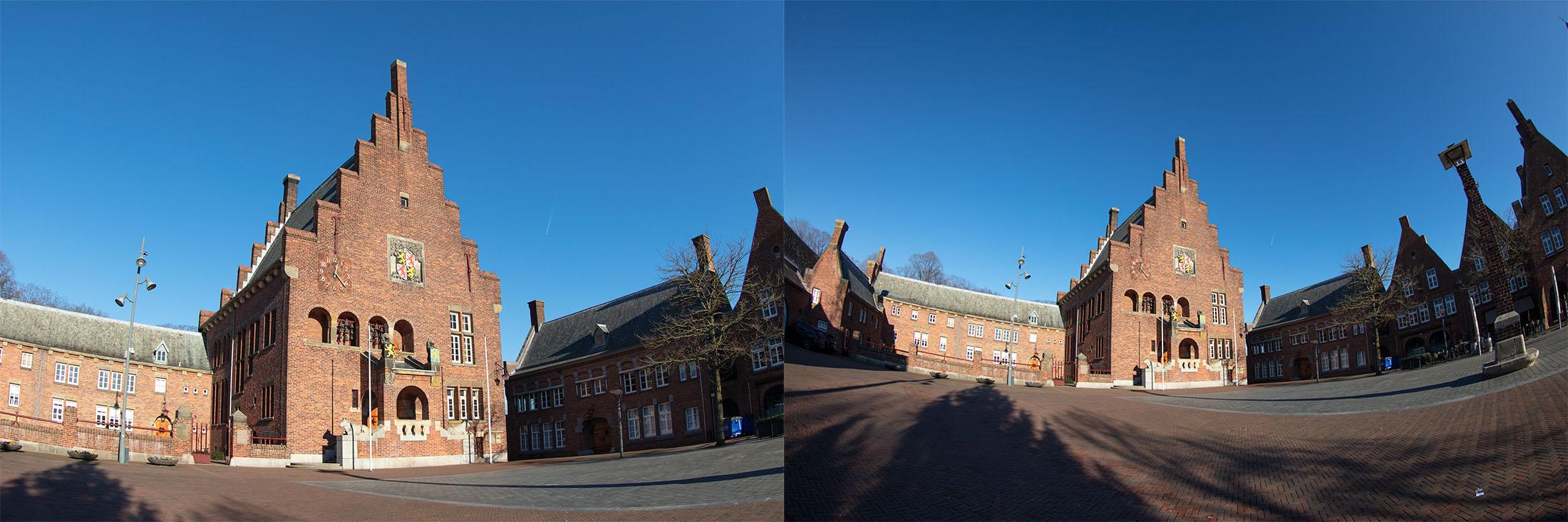 Een foto met een 1.6 cropcamera en eentje met een fullframe