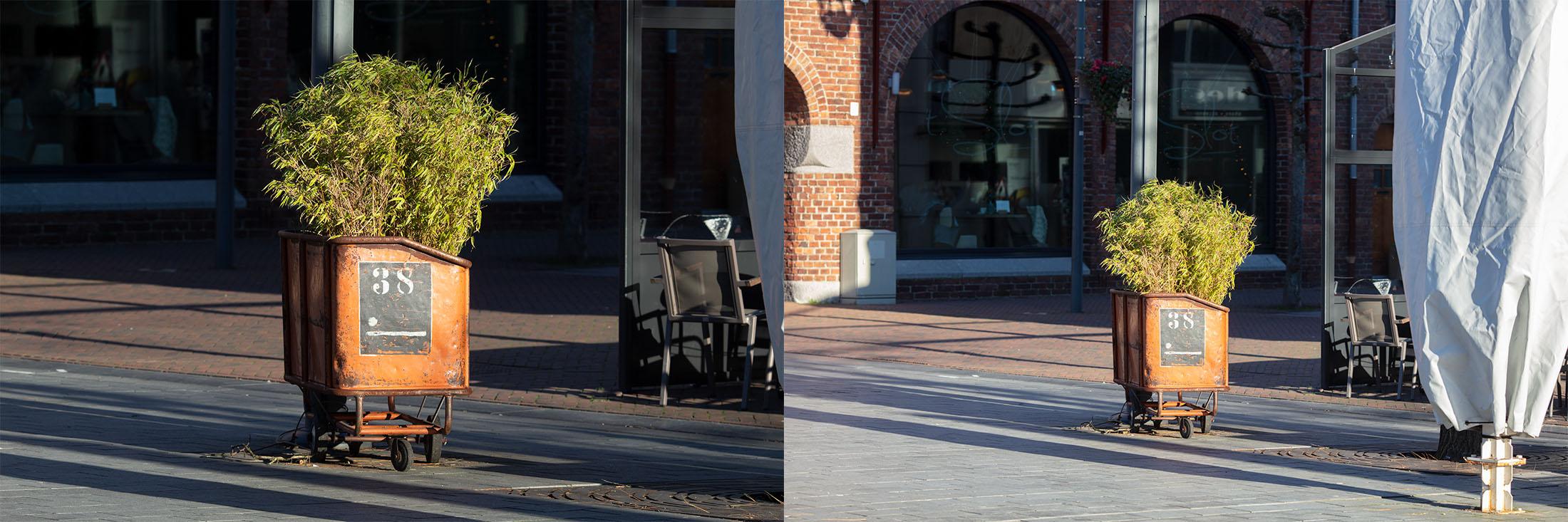Het verschil met een tele-objectief bij een cropfactor en full frame