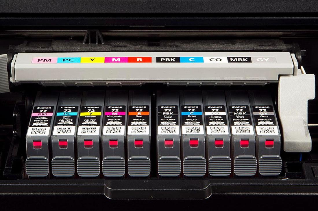 Voorbeeldfoto inktcartridges printer