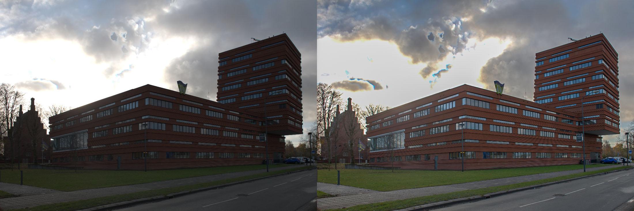 Het verschil tussen wel of geen tonemapping na HDR-ontwikkeling
