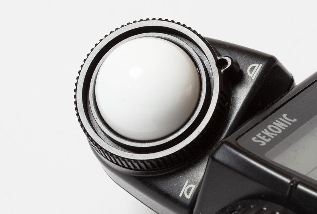 Een draaibare kop op een lichtmeter
