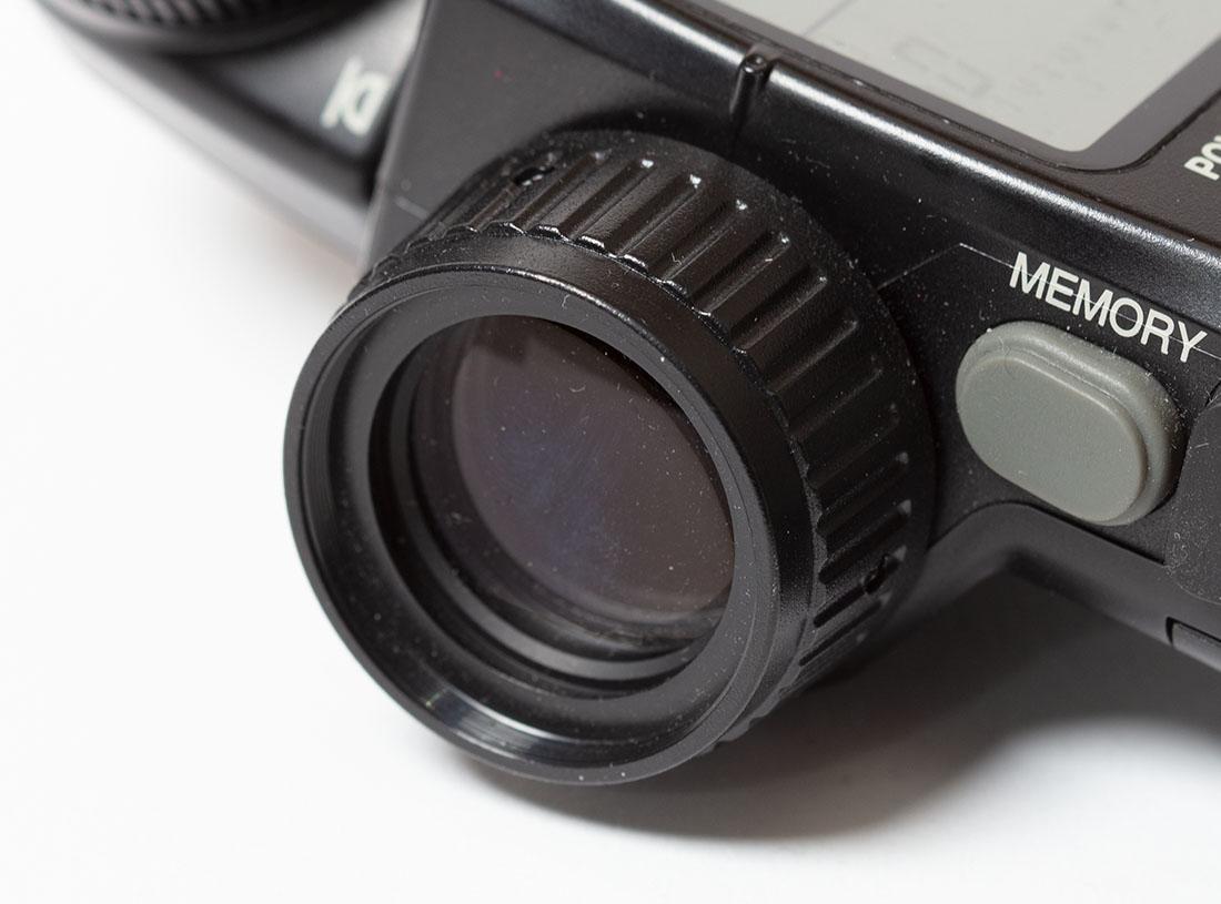 Een spotmeter op een lichtmeter