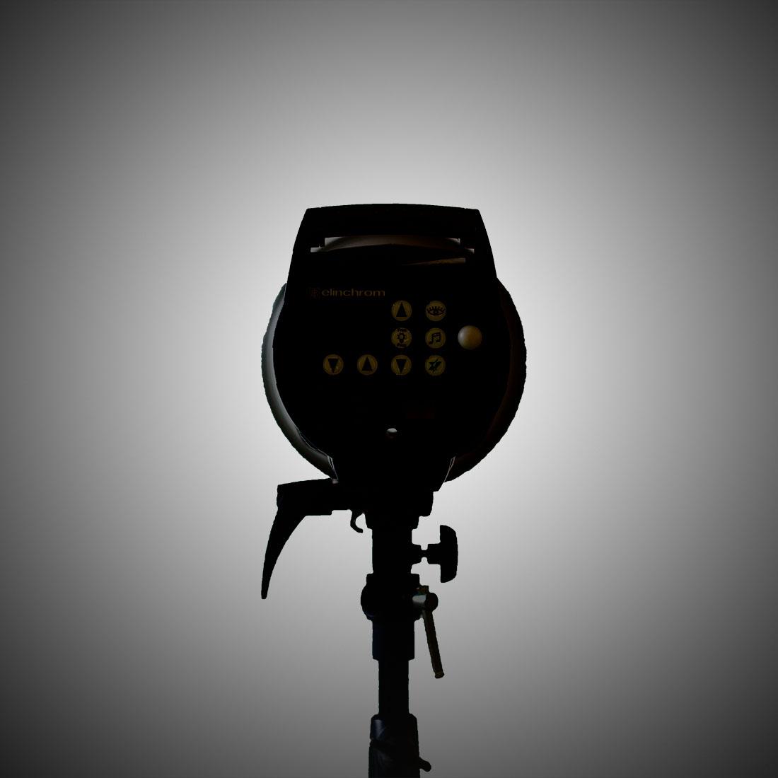 voorbeeld van een studiofoto een reflector