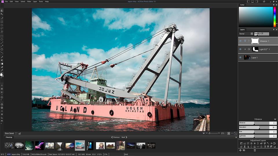 Schermafdruk van GIMP