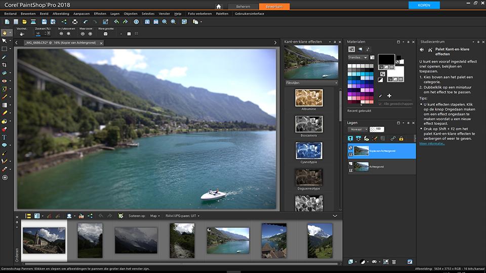 schermafdruk Van Corel Paint Shop Pro