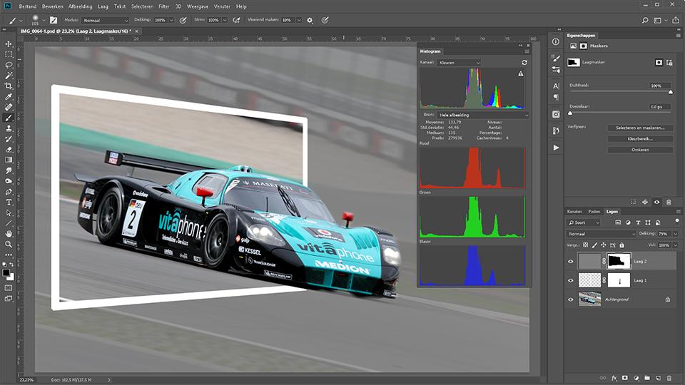 Schermafdruk Adobe Photoshop CC
