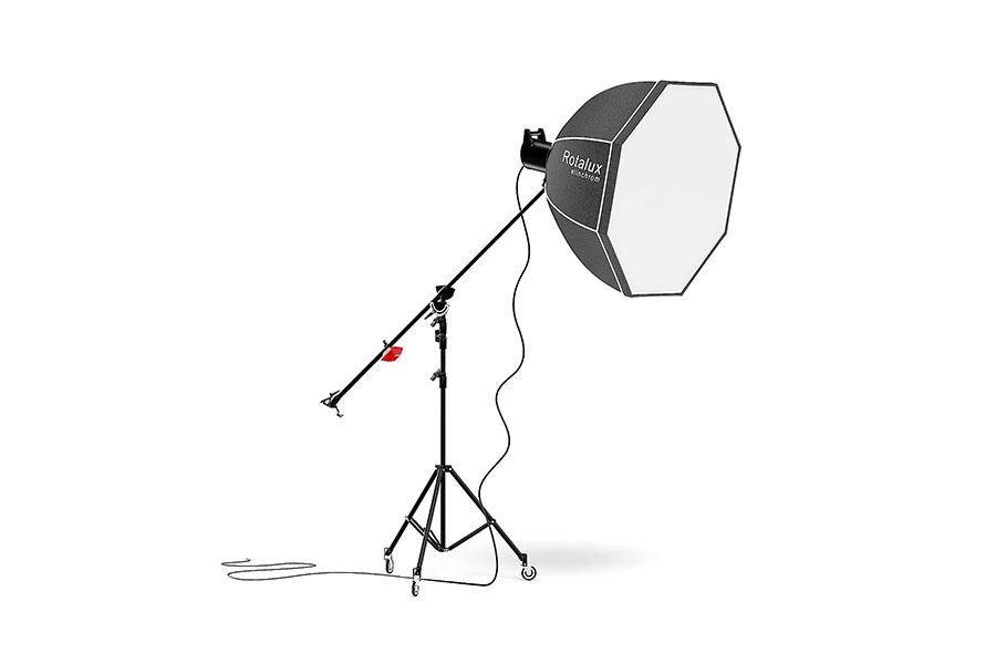 Foto van een paraplu als lichtvormer