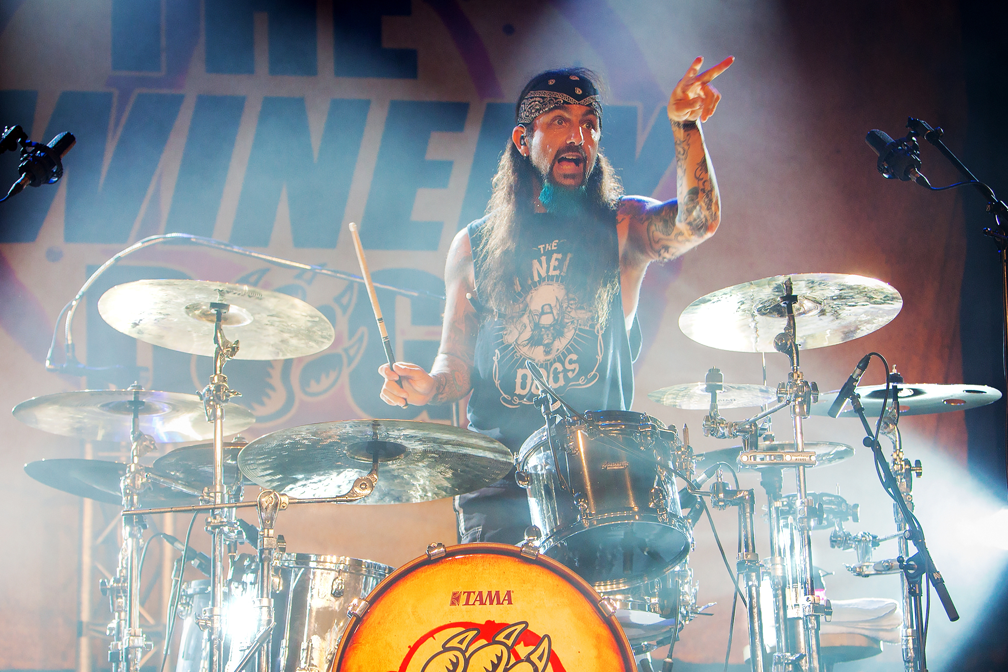 Mike Portnoy and his Winery Dogs at the Bospop-festival in Weert