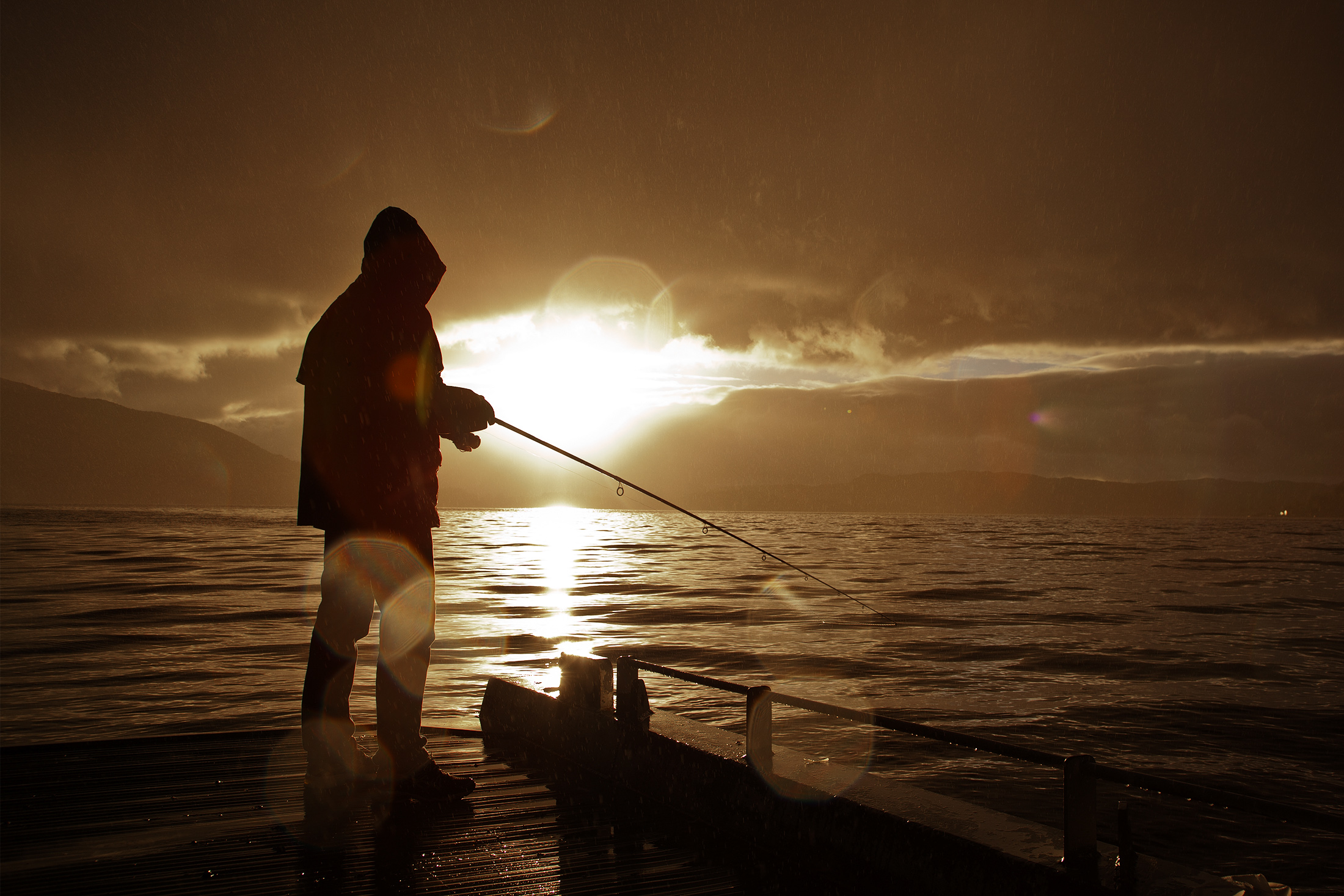 A photo of a fisherman in Norway