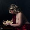 Reading lady